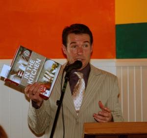 Allan Campion speaking at A la grecque